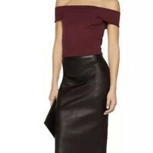 WALTER BAKER Eve top in Burgundy size large